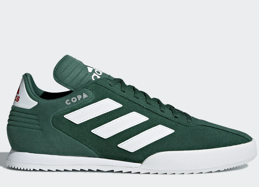 Adidas Copa Super Shoes - Collegiate Green / Running White / Light Scarlet