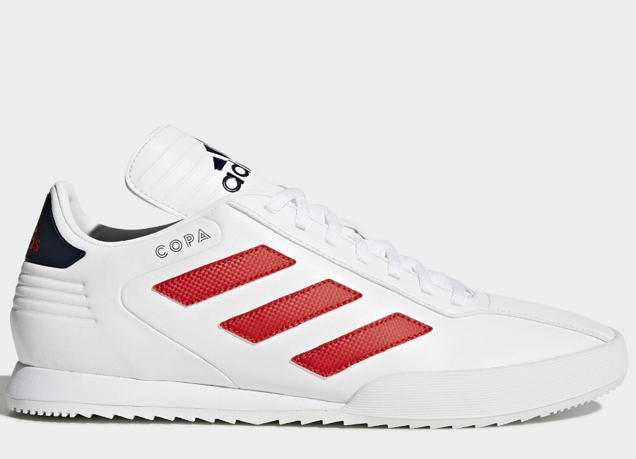 Adidas Copa Super Shoes - Scarlet / Running White / Collegiate Navy
