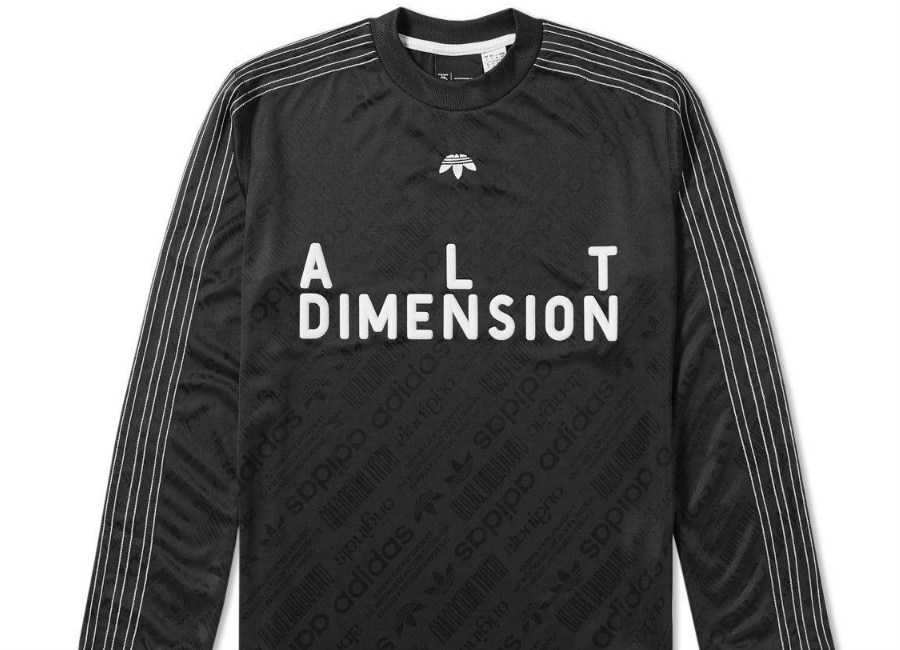 Adidas Originals By Alexander Wang Long Sleeve Soccer Jersey Black White