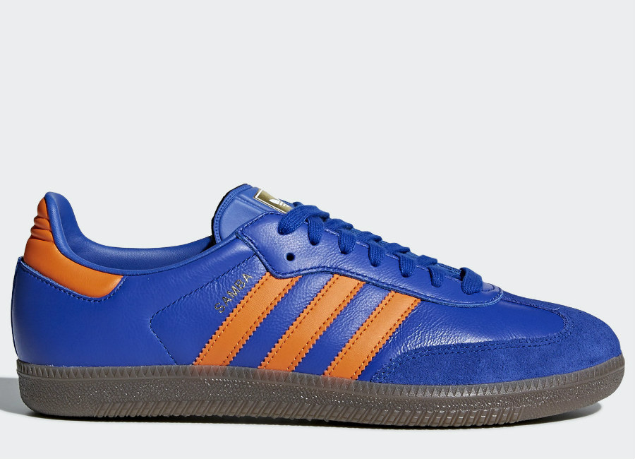Adidas Samba OG Shoes - Bold Blue / Orange / Gum