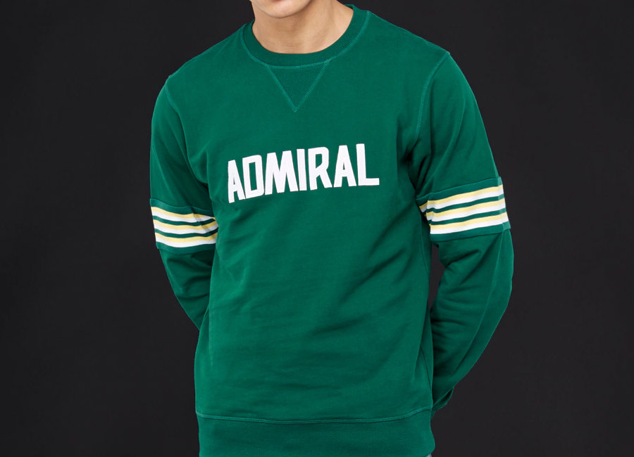 Admiral 1974 Sweatshirt - Bottle / White / Yellow