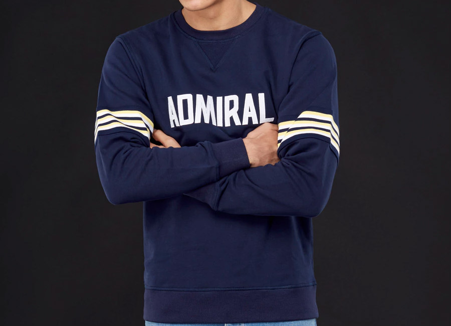 Admiral 1974 Sweatshirt - Navy / White / Lemon