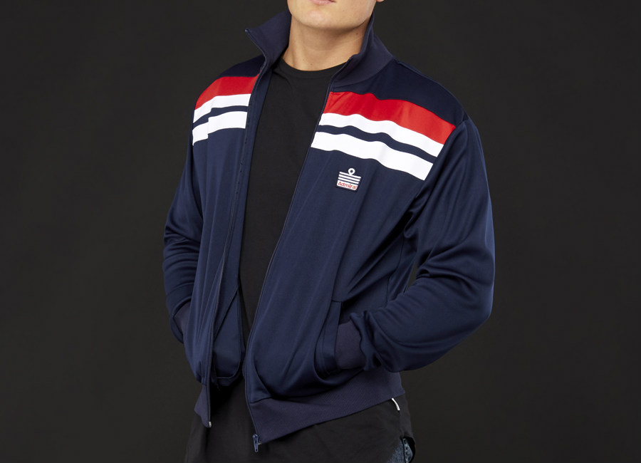 Admiral 1982 Track Jacket - Navy / Navy / Red