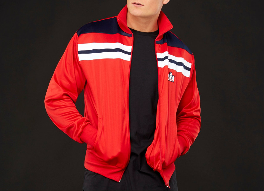 Admiral 1982 Track Jacket - Red / Navy / Red