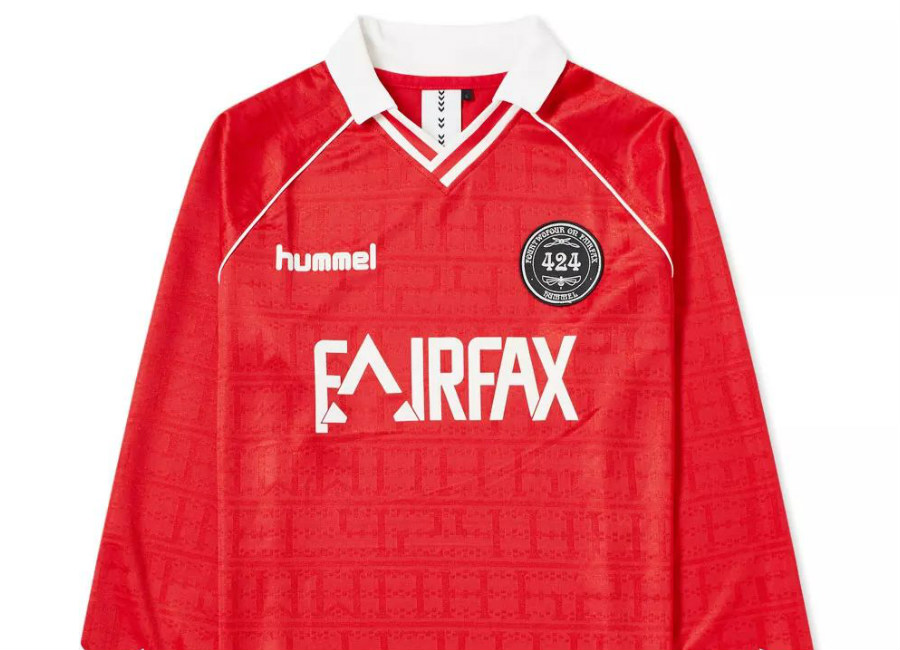 424 X Hummel Fairfax Long Sleeve Jersey - True Red