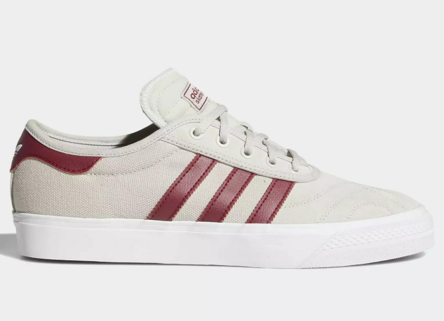 Adidas Adiease Premiere Shoes - Crystal White / Collegiate Burgundy / Ftwr White