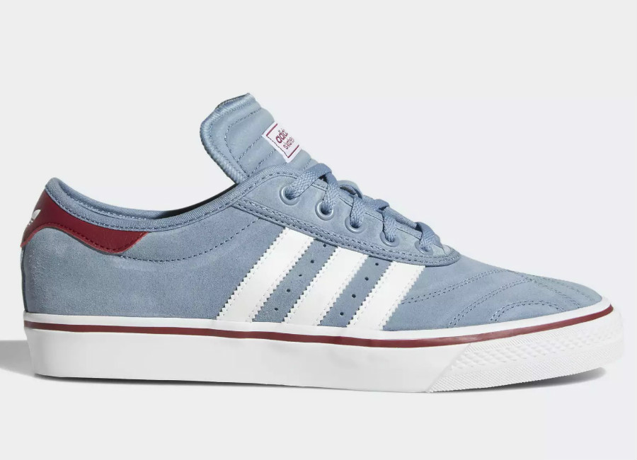 Adidas Adiease Premiere Shoes - Raw Steel / Ftwr White / Collegiate Burgundy