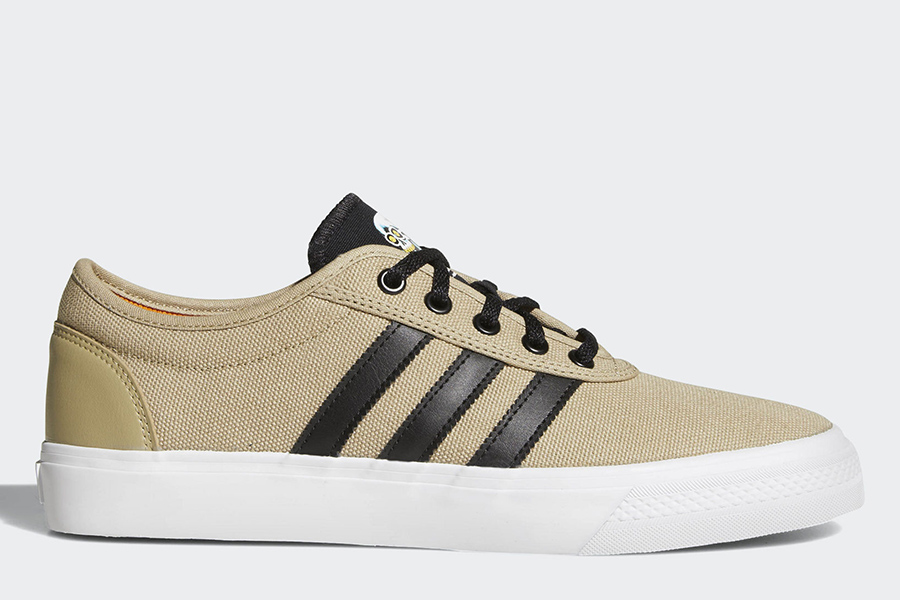 Adidas Adiease Shoes - Raw Gold / Core Black / Ftwr White