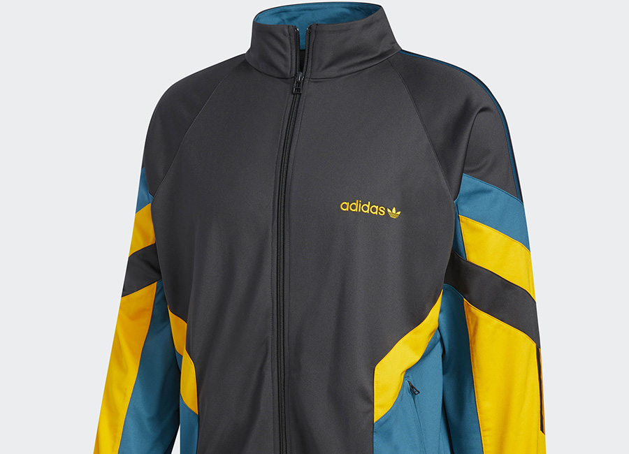 Adidas Aloxe Track Jacket - Carbon / Collegiate Gold