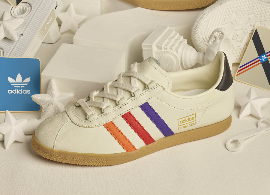 Adidas Archive Trimm Star VHS - Cream / Purple / Red / Orange
