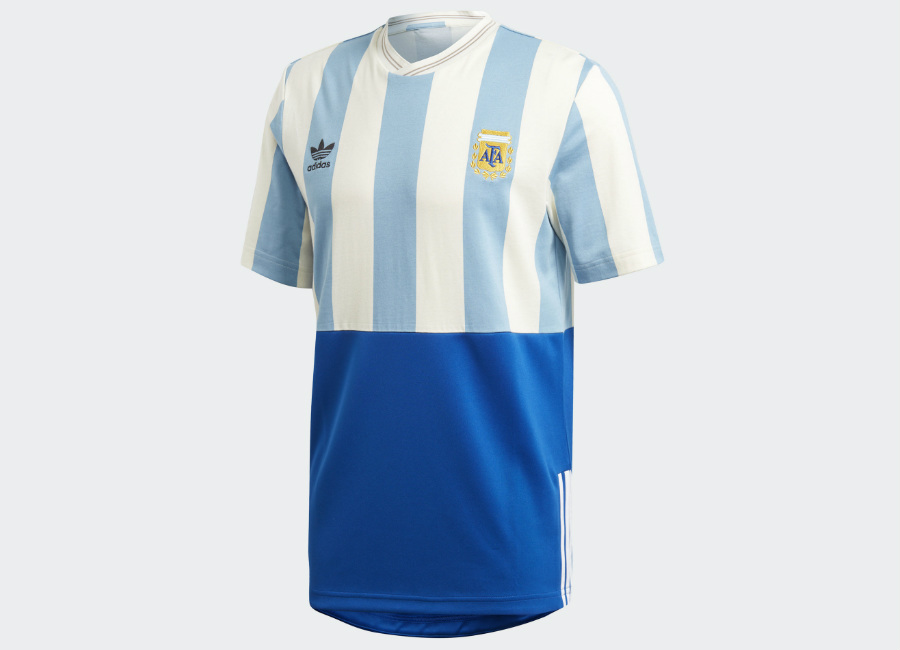 Adidas Argentina Mash-up Jersey - Shade Blue / Echo White