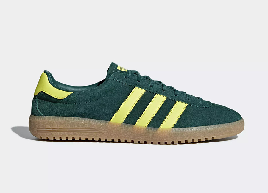 Adidas Bermuda Shoes - Collegiate Green / Shock Yellow / Gum 4