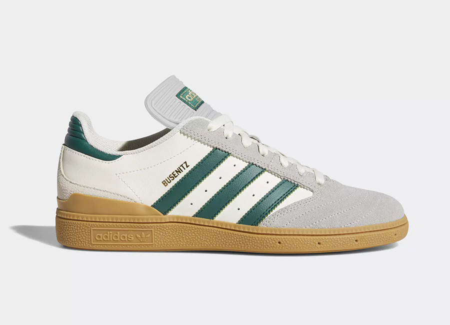 Adidas Busenitz Pro Shoes - Beige / Collegiate Green / Gum 3