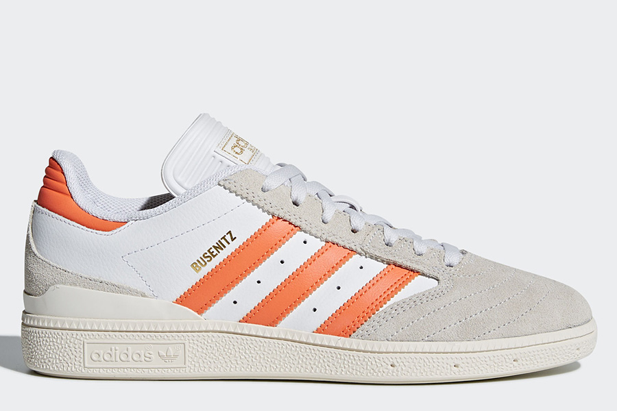 Adidas Busenitz Pro Shoes - Ftwr White / Trace Orange / Chalk White