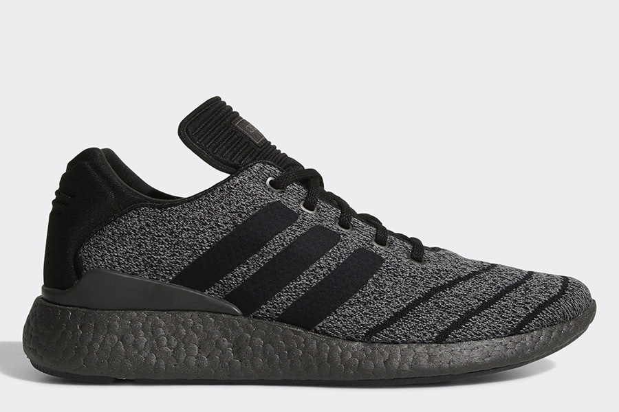 Adidas Busenitz Pureboost Primeknit Shoes - Chalk Solid Grey / Core Black / Trace Grey Metalic