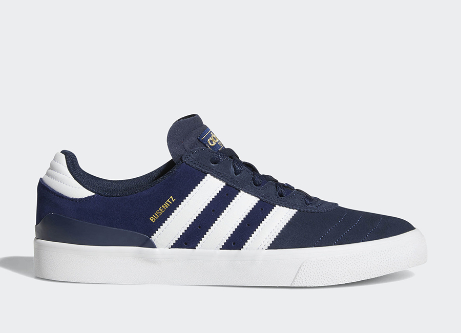 Adidas Busenitz Vulc Shoes - Collegiate Navy / Ftwr White / Dark Blue
