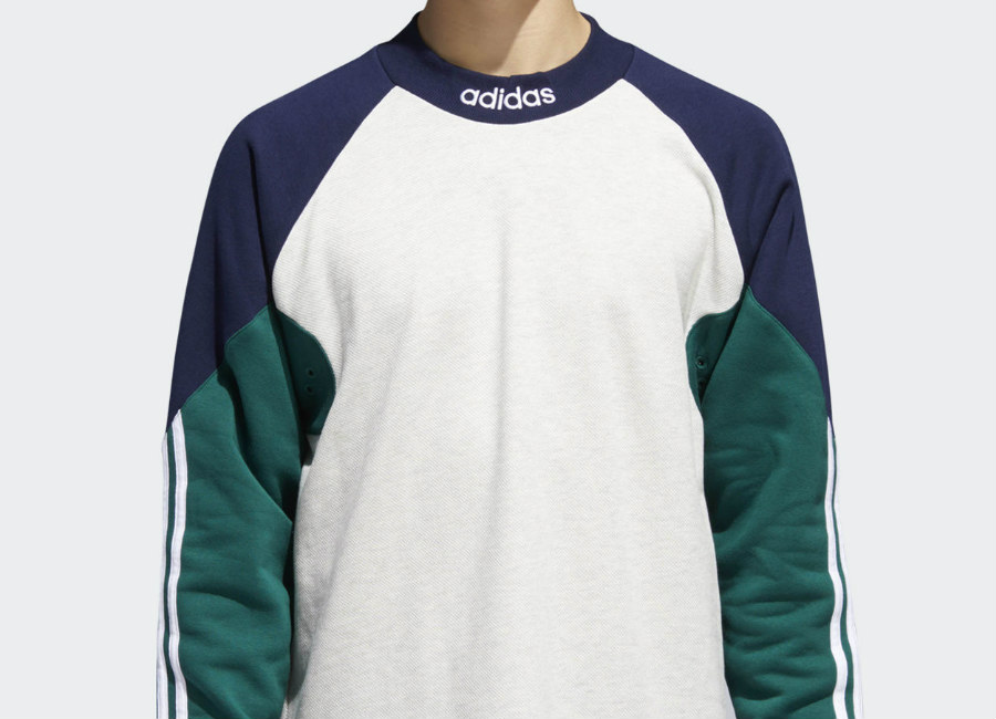 Adidas Heavyweight Goalie Jersey - Pale Melange / Night Indigo / Collegiate Green