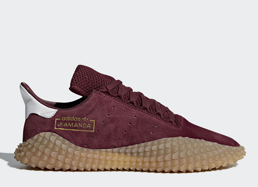 Adidas Kamanda Shoes - Collegiate Burgundy / Collegiate Burgundy / Gum