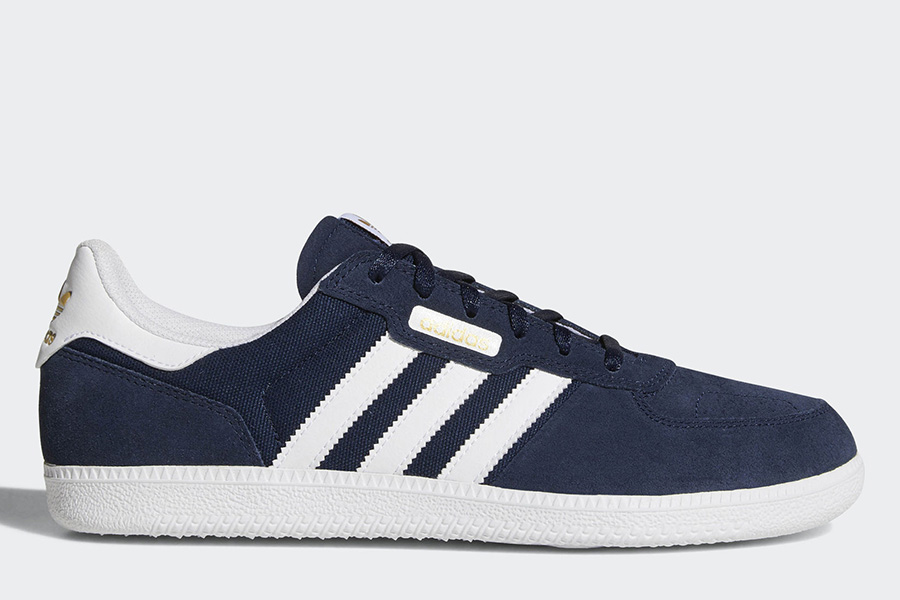 Adidas Leonero Shoes - Collegiate Navy / Ftwr White / Gold Metallic