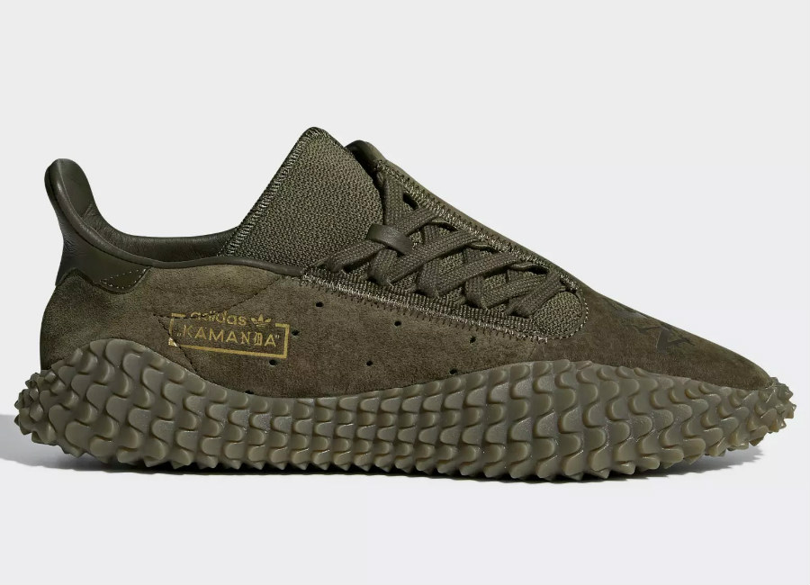 Adidas Neighborhood Kamanda 01 Shoes - Trace Olive / Trace Olive / Trace Olive
