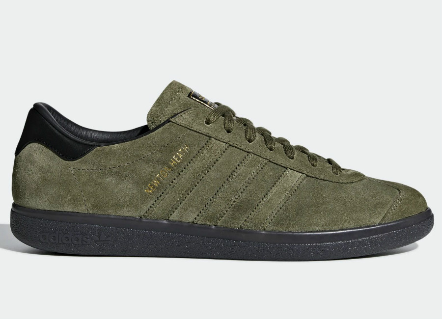 Adidas Newton Heath Shoes - Olive Cargo / Olive Cargo / Core Black