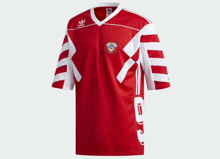 Adidas Russia Mash-up Jersey - Scarlet / White