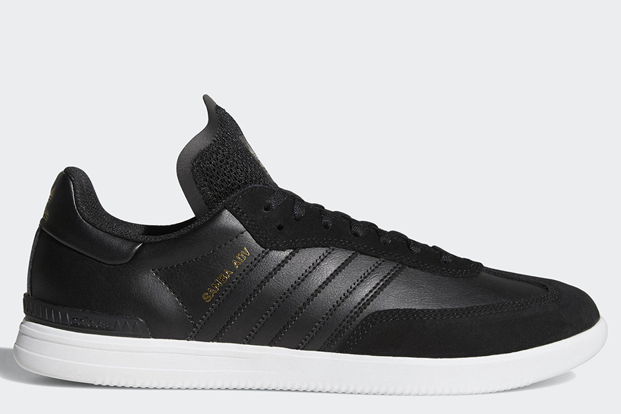 Adidas Samba Adv Shoes - Core Black / Ftwr White / Gold Metallic