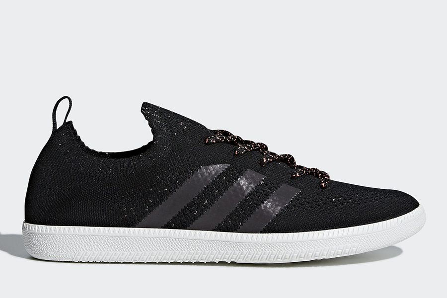 Adidas Samba Sock Primeknit Shoes - Core Black / Crystal White / Blue