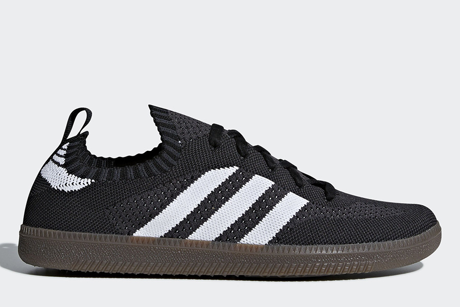 Adidas Samba Sock Primeknit Shoes - Core Black / Ftwr White / Core Red