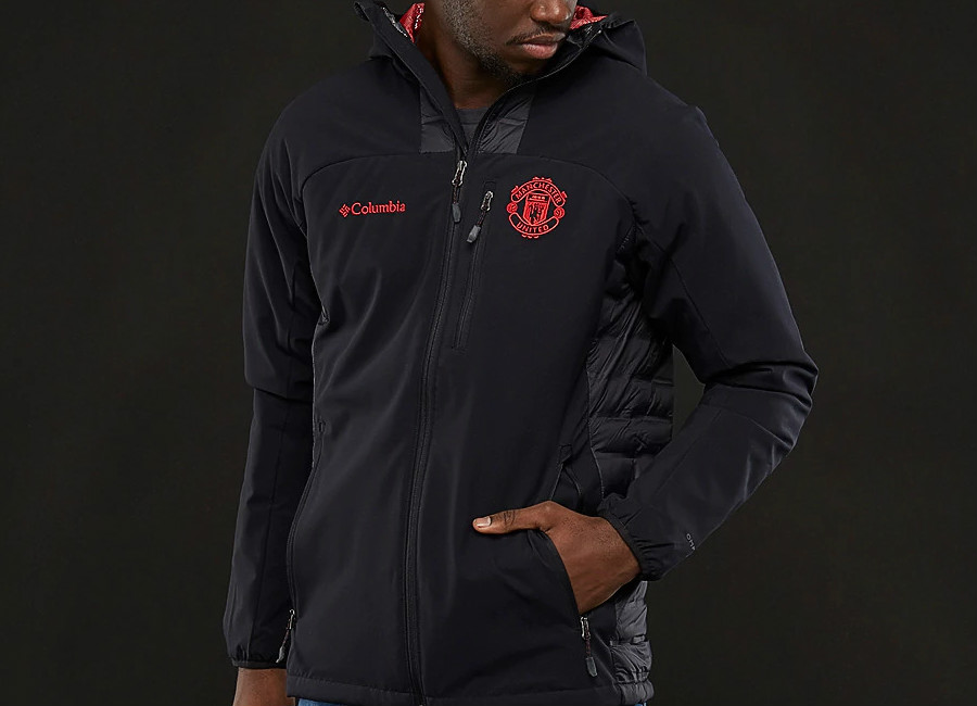 Columbia Manchester United Dutch Hollow Hybrid Jacket - Black