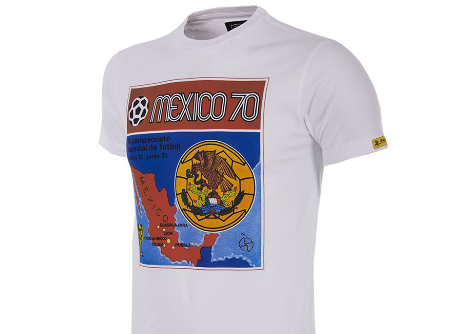Copa Panini Heritage Fifa World Cup 1970 T-shirt - White