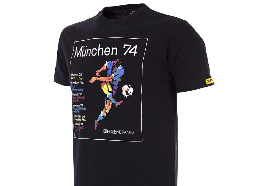 Copa Panini Heritage Fifa World Cup 1974 T-shirt - Black