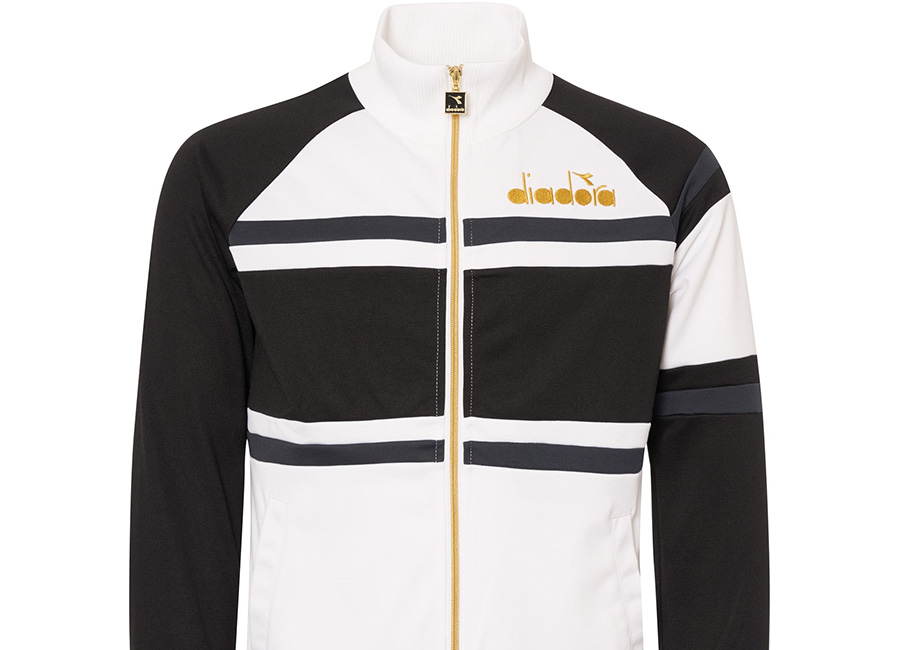 Diadora 80s Track Top - Black / White