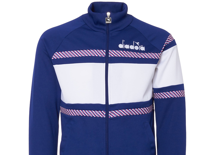 Diadora 80s Track Top - Navy / White