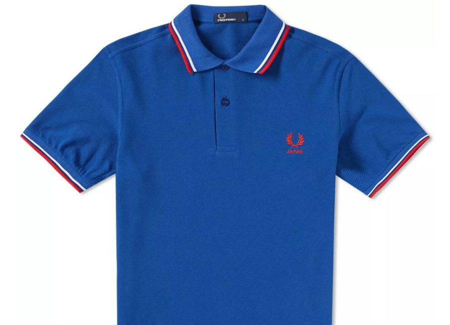 Fred Perry Japan Country Polo Shirt - Cobalt