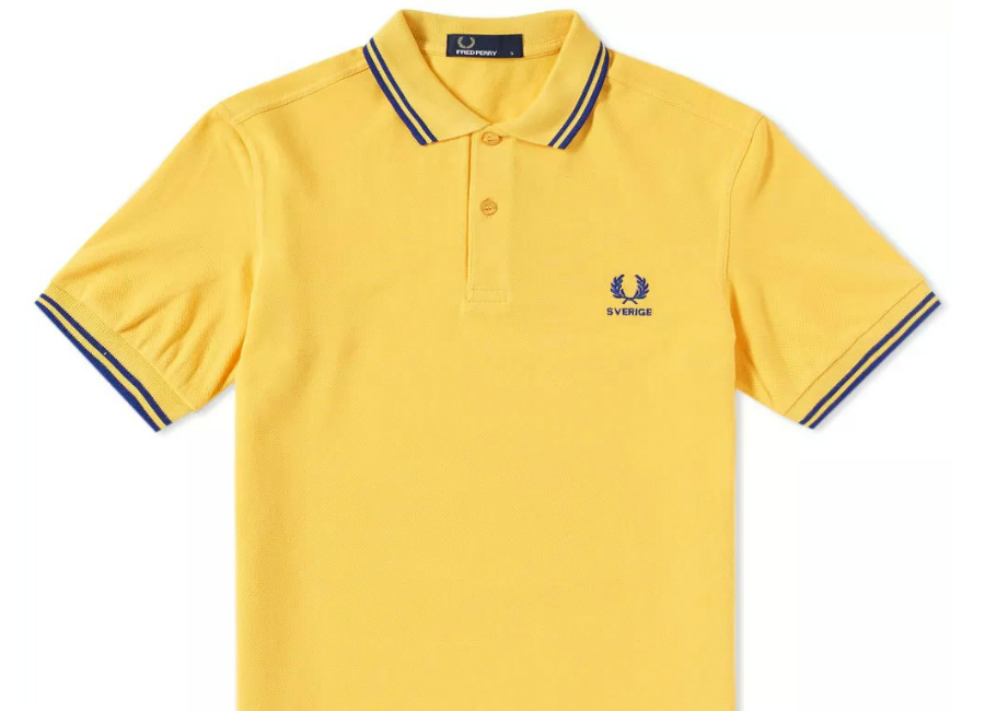 Fred Perry Sweden Country Polo Shirt - Bright Yellow