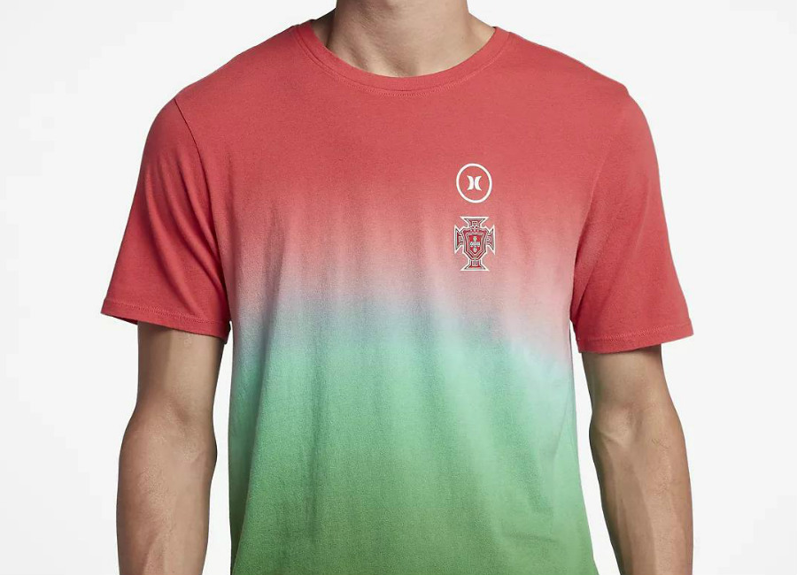 Hurley Portugal National Team T-Shirt - Gym Red