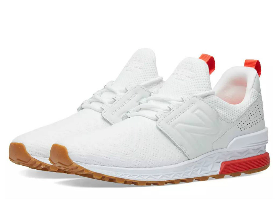 New Balance MS574 Russian Football - White / Flame