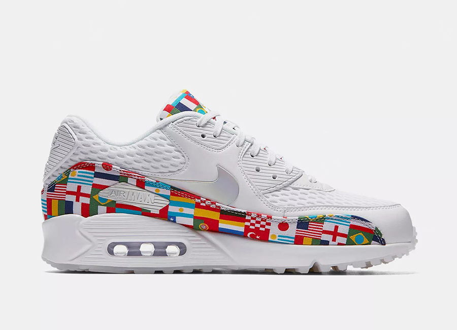 Nike Air Max 90 NIC International Flag Pack - White / Multi
