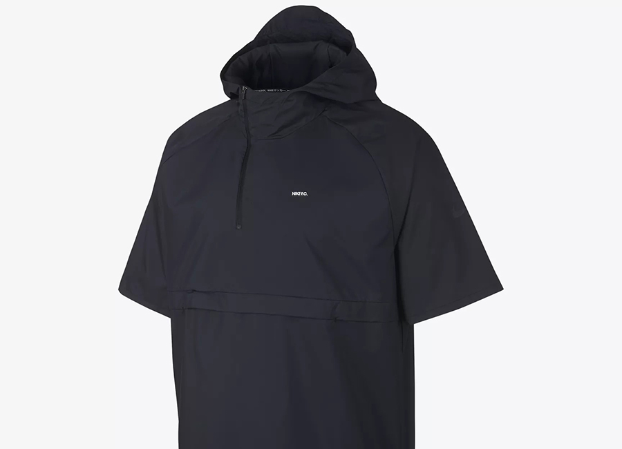 Nike F.C. Short-Sleeve Hooded Football Jacket - Black / Black / Black