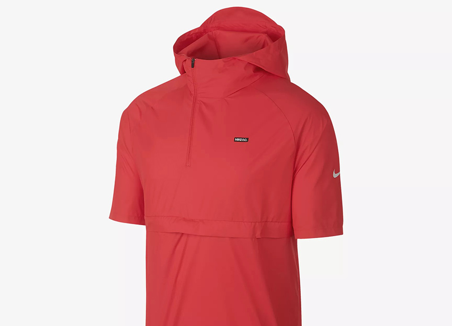 Nike F.C. Short-Sleeve Hooded Football Jacket - Light Crimson / White / White