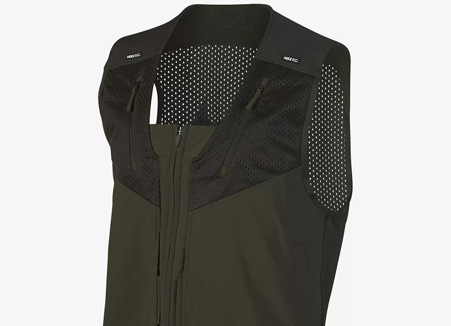 Nike F.C. Full-Zip Football Gilet - Cargo Khaki / Black