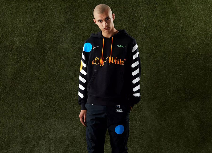 Nike X Off-White Pullover Hoody - Black / Total Orange