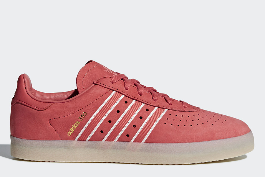 Oyster Holdings Adidas 350 Shoes - Trace Scarlet / Chalk White / Gold Metallic