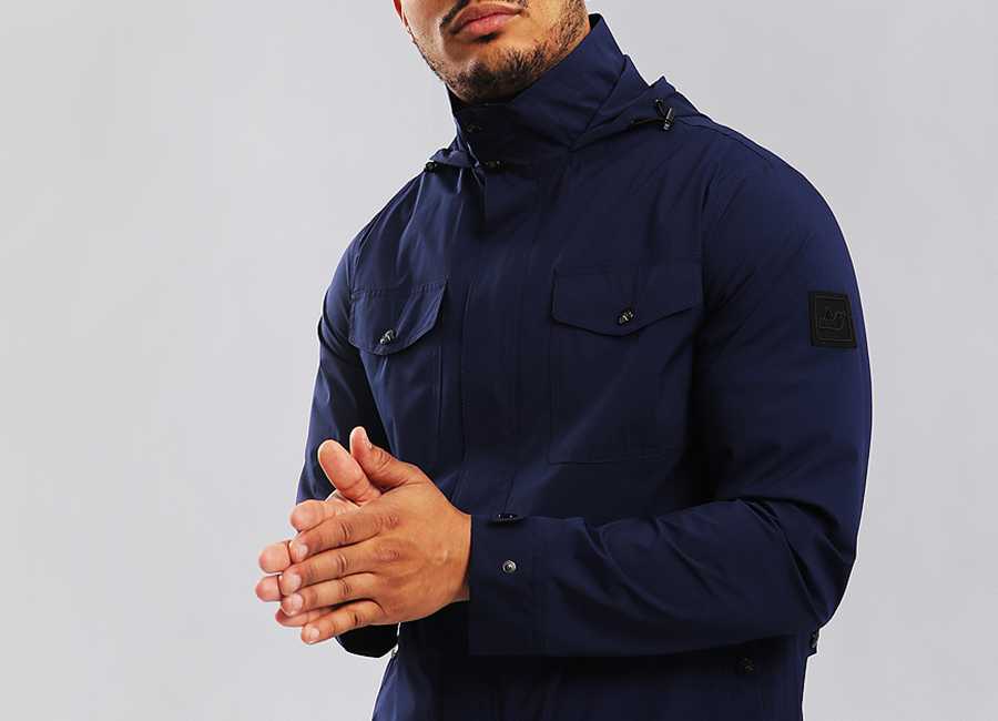 Peaceful Hooligan Norbury Jacket - Navy