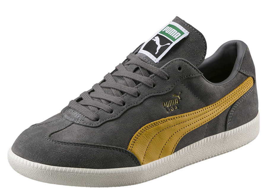 Puma Liga Suede Trainers - Quiet Shade / Mineral Yellow