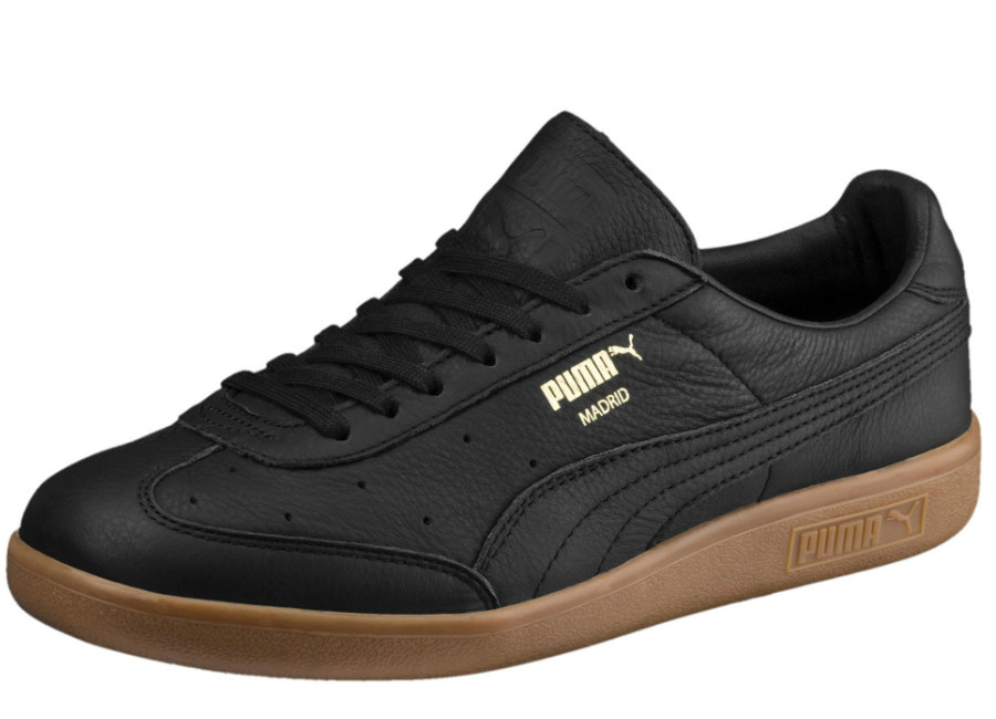 Puma Madrid Premium Trainers - Puma Black / Puma Team Gold