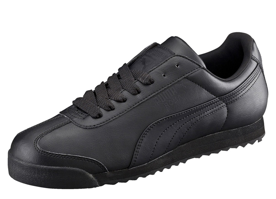 Puma Roma Basic Trainers - Black / Black