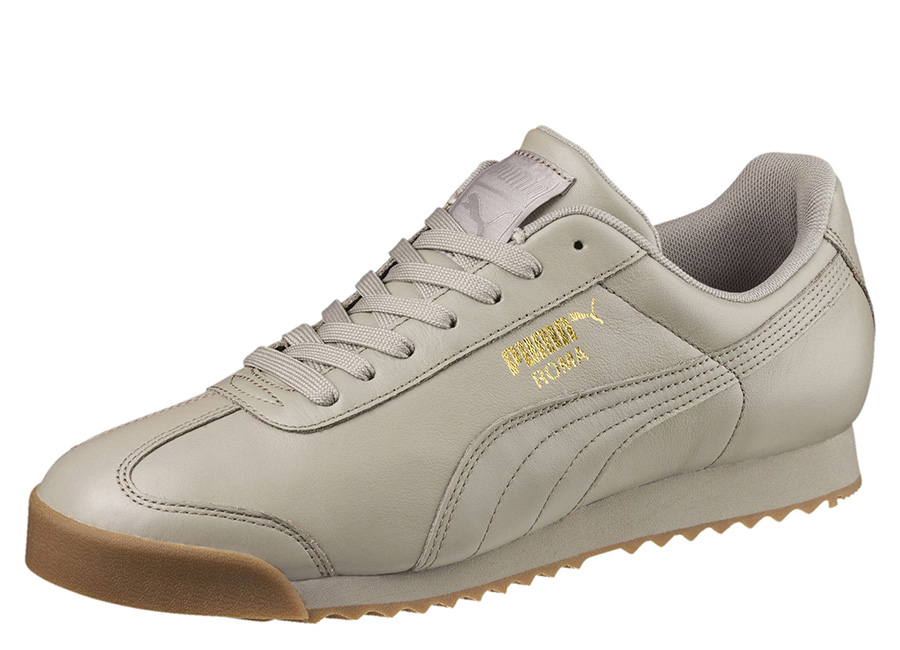 Puma Roma Classic Gum Trainers - Rock Ridge / Puma Team Gold