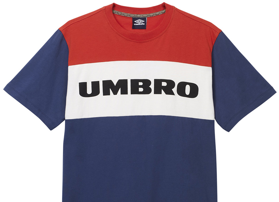 Umbro Block Chest Logo Tee - Navy / White / Red